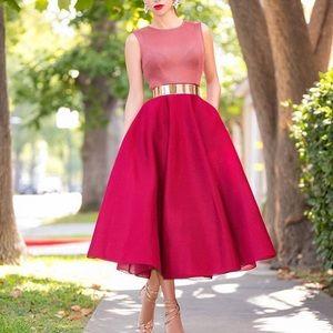 Ella sleeveless blush mesh dress